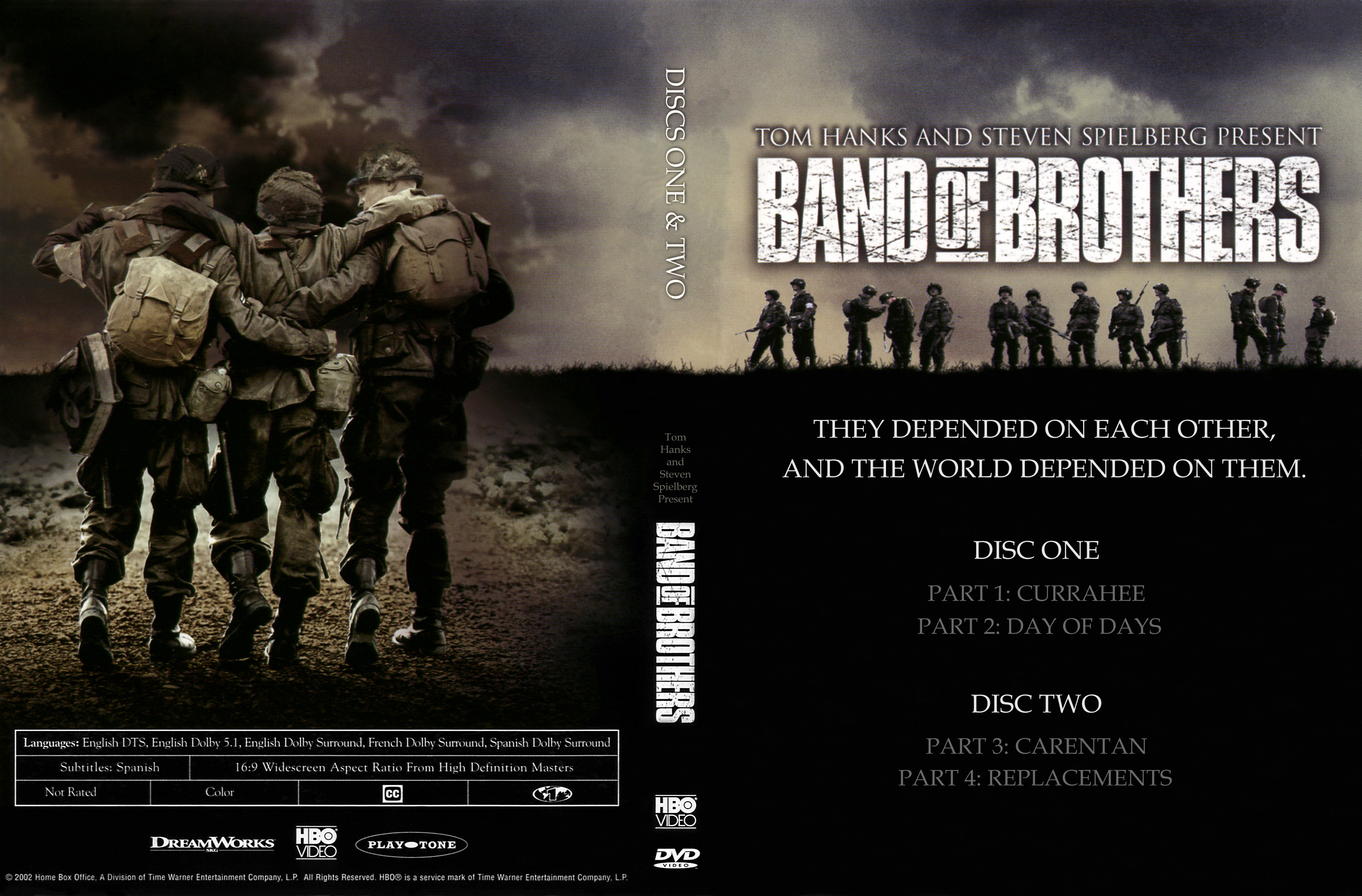 Band of brothers discs 1-2 English